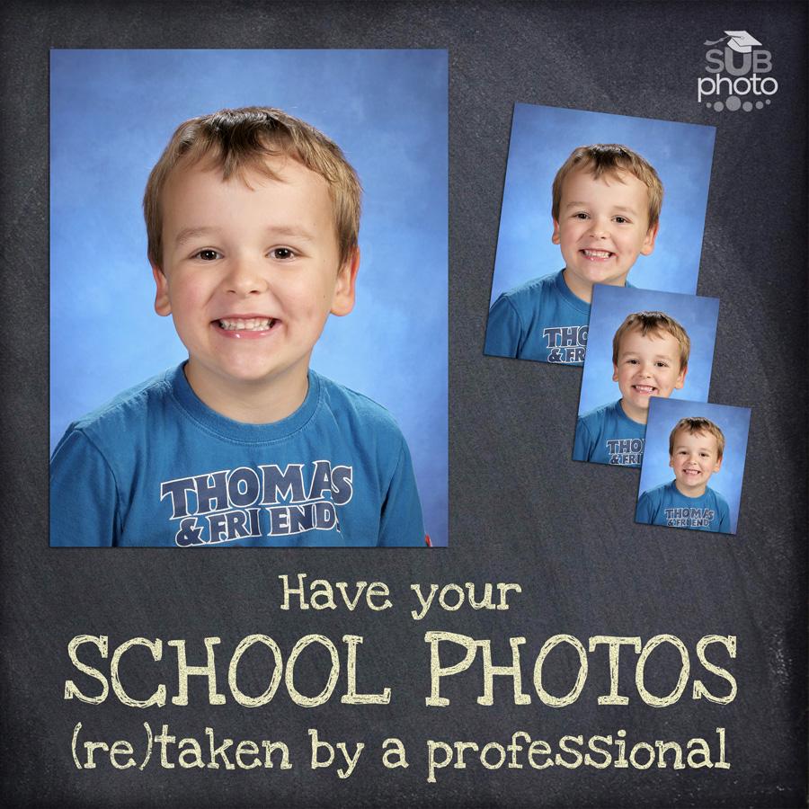 School Photos in a Studio