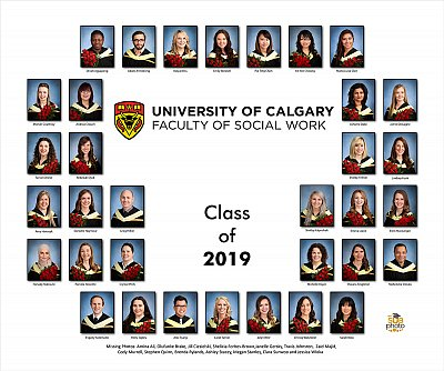 University of Calgary - grad photo composite